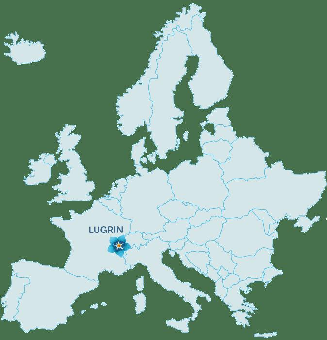CARTE EUROPE SITUATION CAMPING LES MYOSOTIS